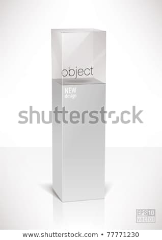 Pedestal top glass display cube case Stock photo © Victoria_Andreas