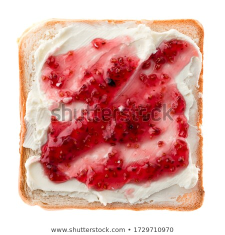 Slices of crusty white bread Stock photo © veralub