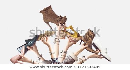 черный · обуви · кожа · женщину - Сток-фото © foka