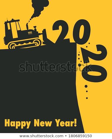 Buldozer conducere murdărie constructii muncă nisip Imagine de stoc © jadthree