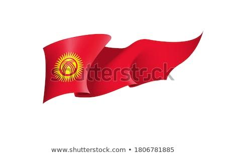 Politiek vlag Kirgizië wereld land Stockfoto © perysty