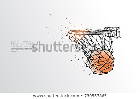 fighting basketball ball vector illustration stock photo © chromaco