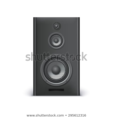 single loudspeaker, acoustic woofer  icon isolated on black Stock photo © experimental