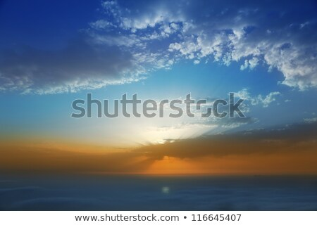 Sunset sky over haze sea of clouds in La Palma Stock photo © lunamarina
