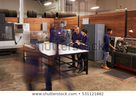 A team of tradesmen busy at work Stock photo © photography33