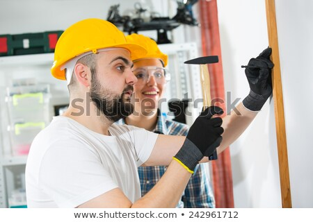 craftsman and craftswoman posing together Stock photo © photography33