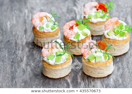 puff pastry with shrimp Stock photo © M-studio