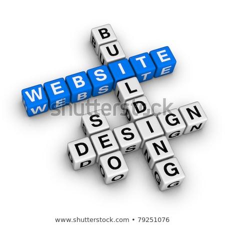 Palavras cruzadas site isolado papel projeto assinar Foto stock © a2bb5s