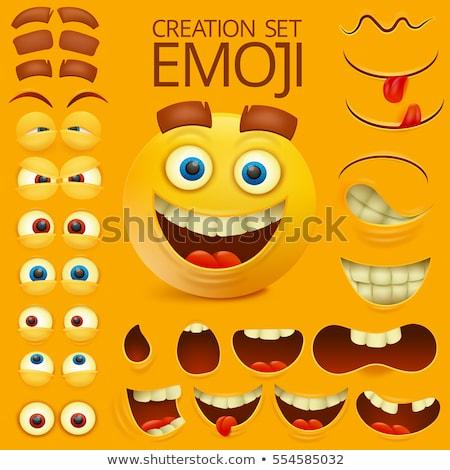 Fog rajzfilmfigura arc boldog orvosi fogorvos Stock fotó © dagadu