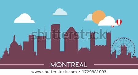 Cartoon Montreal skyline città Québec Canada Foto d'archivio © blamb