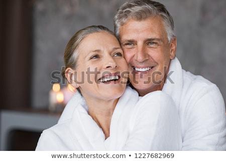 Mature couple in bathrobe Stock photo © photography33