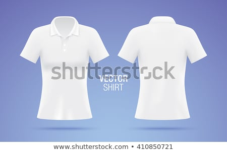 Purple polo t-shirt on white background Stock photo © ozaiachin