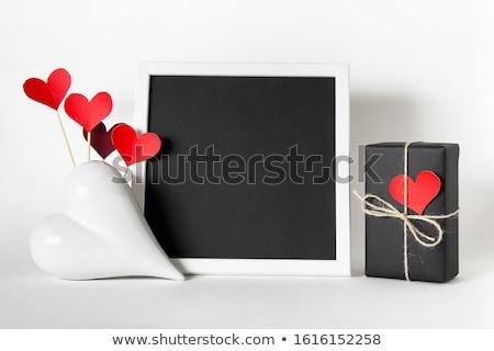 Coração photo frame vetor arte ilustração quadro Foto stock © robertosch
