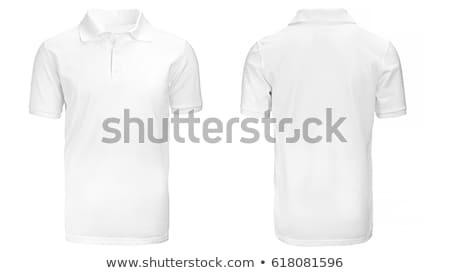 Polo blanche hommes costume shirt t-shirt Photo stock © ozaiachin