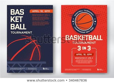 Koszykówki turniej zabawy wektora graficzne Zdjęcia stock © squarelogo