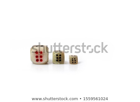 черный Dice числа шесть белый весело Сток-фото © wavebreak_media