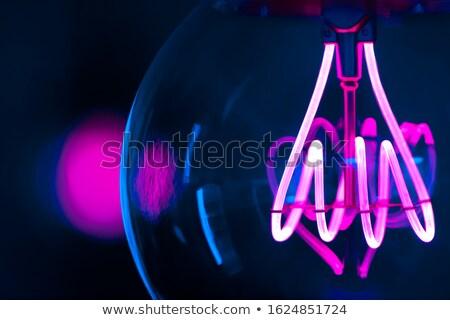 Ampoule macro lumière technologie bleu Photo stock © rogerashford