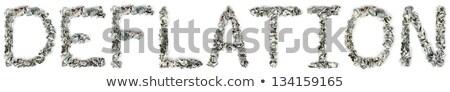 100 számlák szó ki izolált fehér Stock fotó © eldadcarin