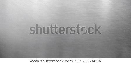 Ragyogó fém textúra nézőpont fal vasaló modern Stock fotó © ssuaphoto