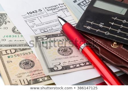 индивидуальный · доход · налоговых · форме · Соединенные · Штаты · вертикальный - Сток-фото © stevanovicigor