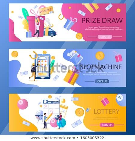 Lotteria biglietti soldi diverso matita finanziare Foto d'archivio © kuligssen