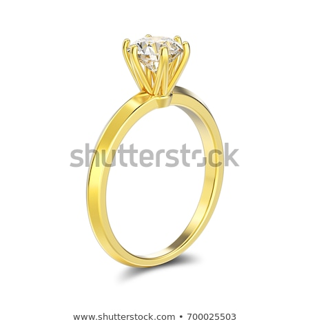 Diamant or anneau isolé luxe grand Photo stock © 123dartist