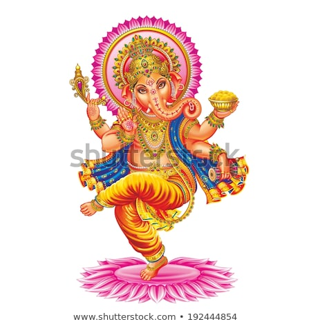 ancient sculpture of indian god lord ganesh god of luck and prosperity stock photo © bbbar