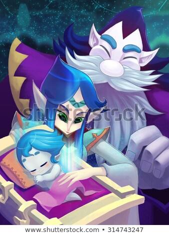 fantastic couple in the bedroom stock photo © konradbak