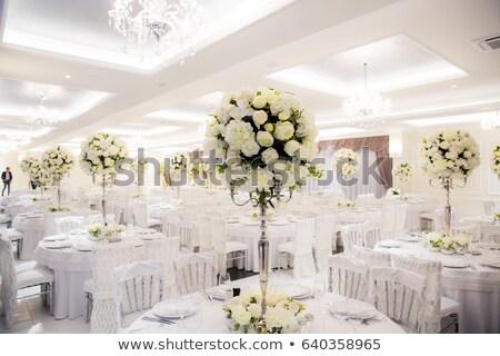 tabela · decorado · velas · coberto · toalha · de · mesa - foto stock © avdveen
