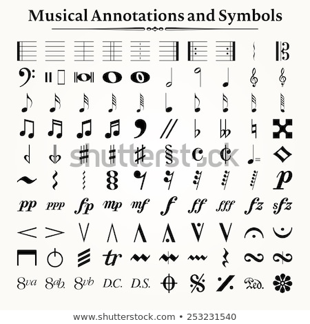 Musical symbol Stock photo © zzve