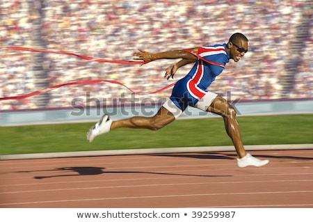 Sprinter in Finish Line Stock photo © patrimonio