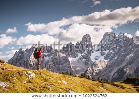 Trekking randonneur fille nature paysage Photo stock © Antonio-S