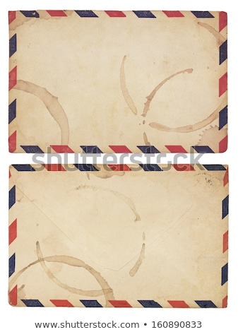 Vintage, Coffee-Stained Airmail Envelope Stock photo © 3mc