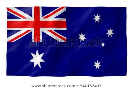 Ruffled Australia Flag Stock photo © pinkblue