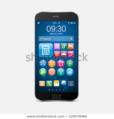 Mobile smart phone with blue touch screen Stock photo © graphit