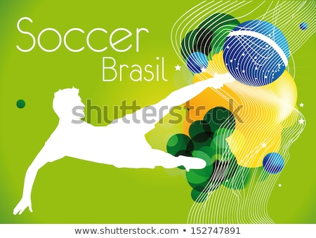 retro · Brasil · cartaz · projeto · brilhante · amarelo - foto stock © graphit