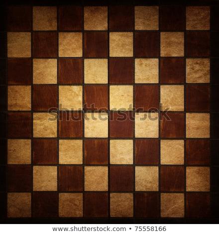 Velho tabuleiro de xadrez preto e branco madeira fundo Foto stock © stevanovicigor