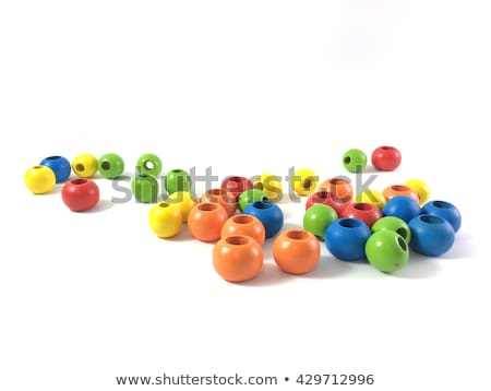 color beads isolated on white stock photo © oly5
