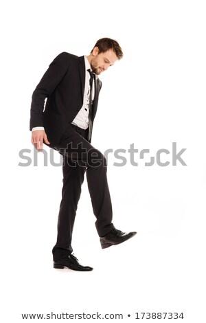 Businessman making a stamping gesture Stock photo © stryjek