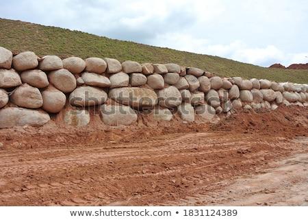 Stones on the rain stock photo © ajfilgud