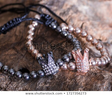 crown of silver platinum and precious stones Stock photo © yurkina