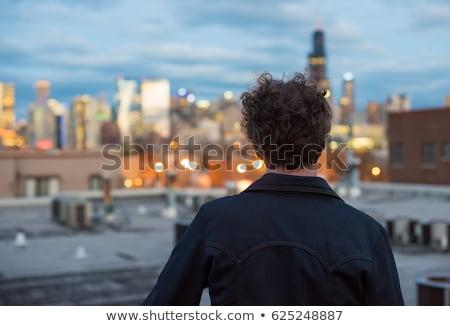 Guapo los hombres jóvenes detrás noche ciudad coche Foto stock © Nejron