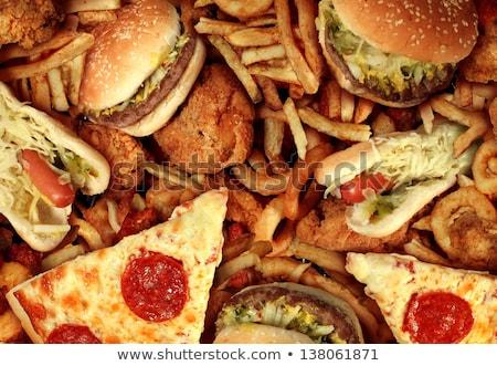 Egészségtelen étel hamburger nagy étvágygerjesztő gyorsételek szendvics Stock fotó © natika