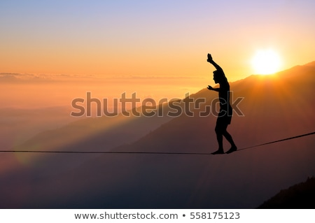 Balancing Man Stock photo © blamb