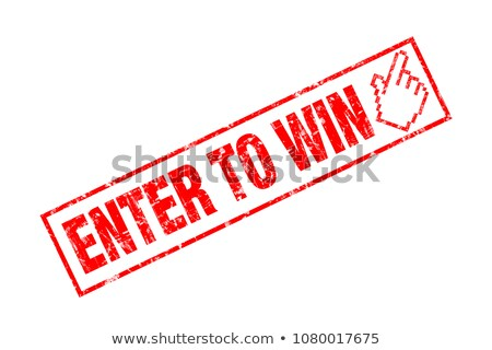 Сток-фото: Red Stamp - Enter To Win