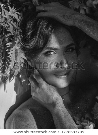Fabulous brunette woman in the jungle Stock photo © konradbak