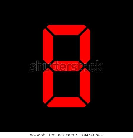 Countdown acht oude film scherm hoog Stockfoto © idesign