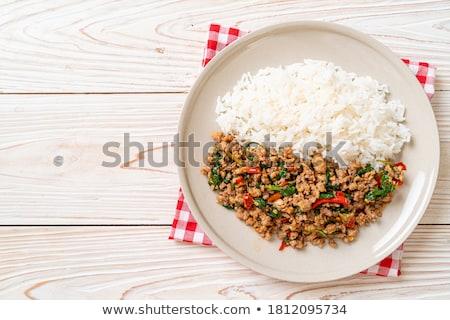 chili con carne and rice Stock photo © M-studio