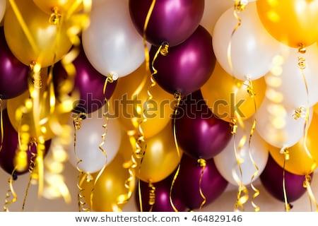 Decke Ballons Helium weiß glücklich blau Stock foto © tilo