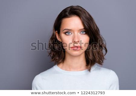 ábrázat közelkép portré fiatal csinos nő szem Stock fotó © gromovataya